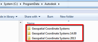 Geospatial Coord Systems folders fig 1