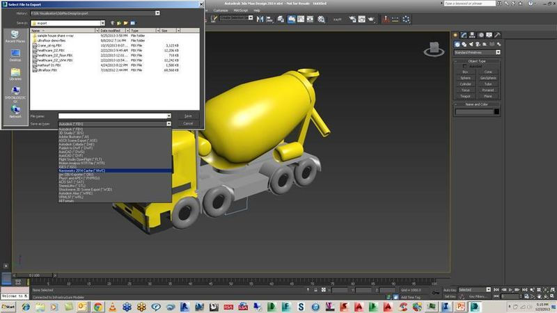 3ds max design convert NWC