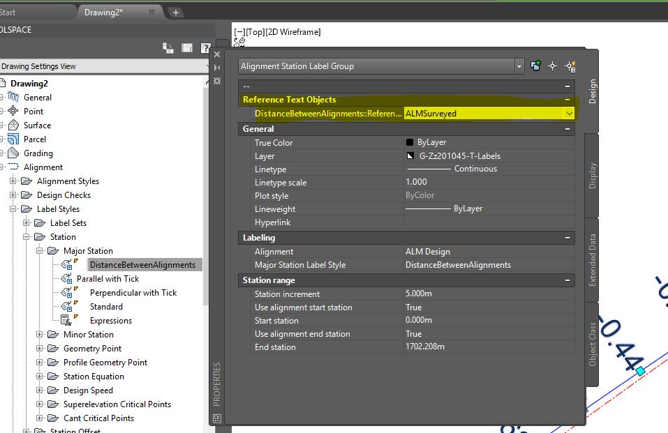AutoCAD Civil 3D – Label distance between 2 Alignments - BIM