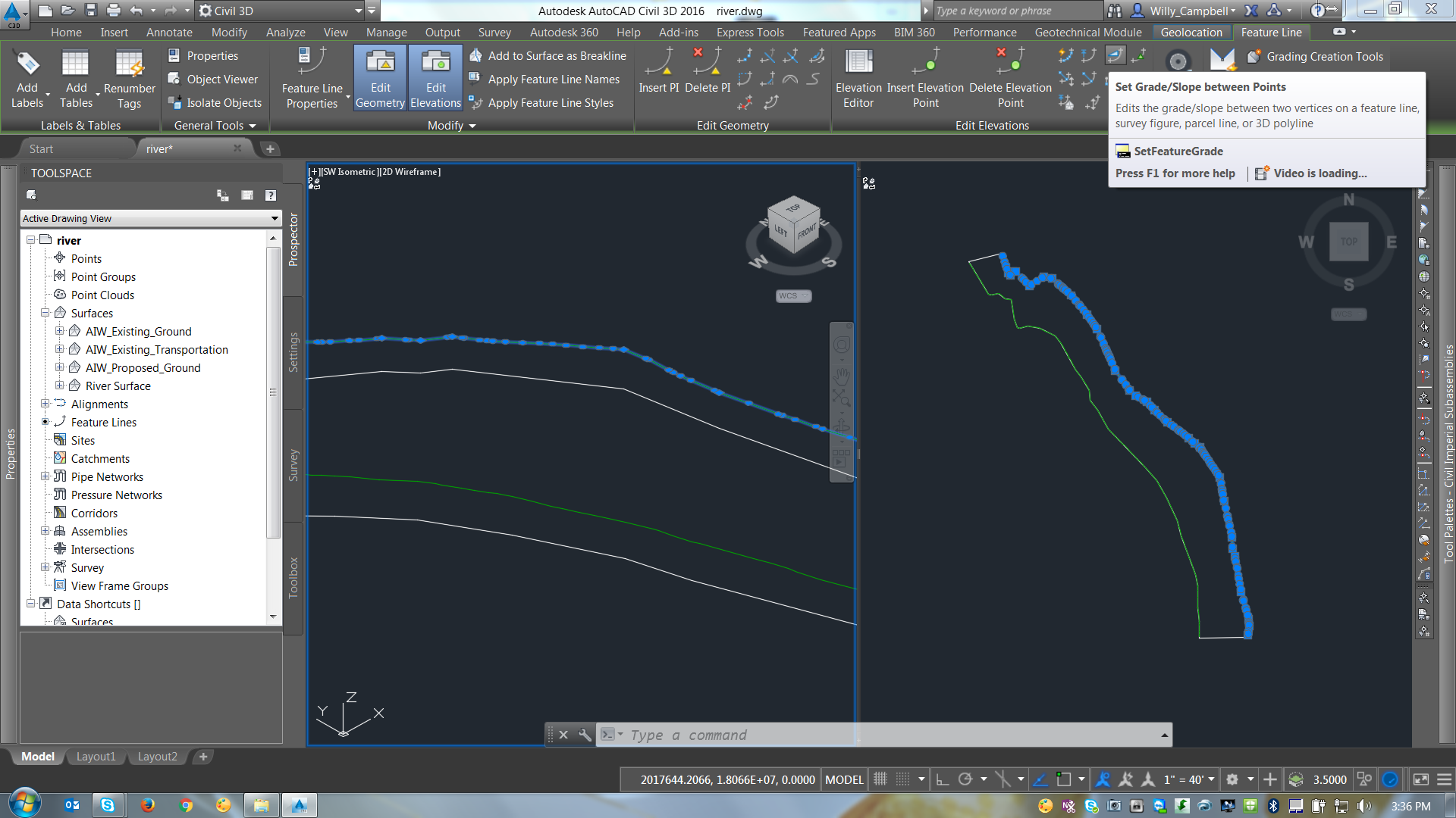Drawing Smooth Lines In Autocad : Tame that raging river autodesk community infraworks