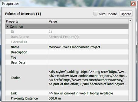 POI HTML Tooltip